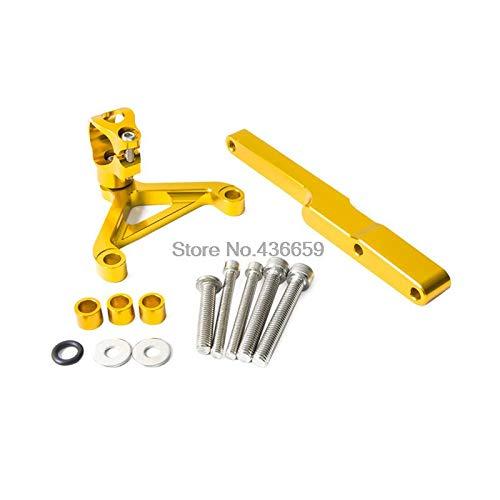 Iris-Shop - Gold CNC Steering Damper Mounting Kit For Honda CB1000R 2008 2009 2010 2011 2012 2013 2014 2015