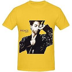 Prince The Hits 1 Hits Mens O Neck Printed Tee Yellow
