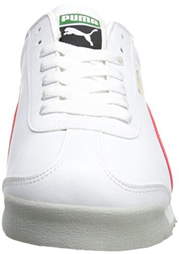 PUMA Men's Roma Basic Fashion Sneaker, White/High Risk Red/White - 9 D(M) US by PUMA (Image #4)