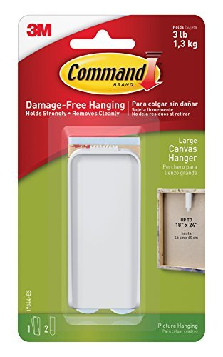 CANVAS HANGER LARGE WHT (Pkg of 4)