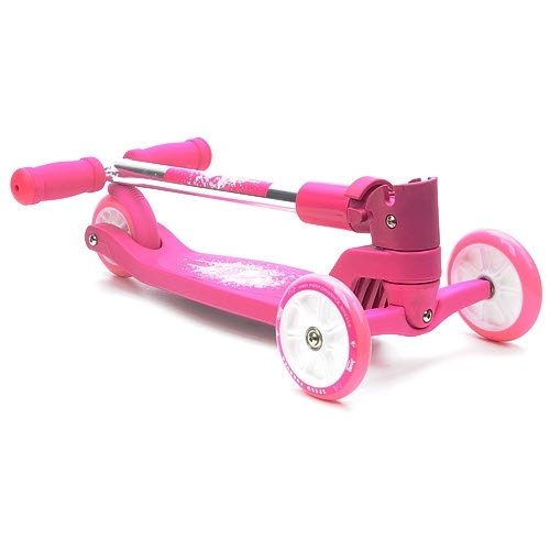 Hudora 11050 - Patinete plegable de 3 ruedas, color rosa ...