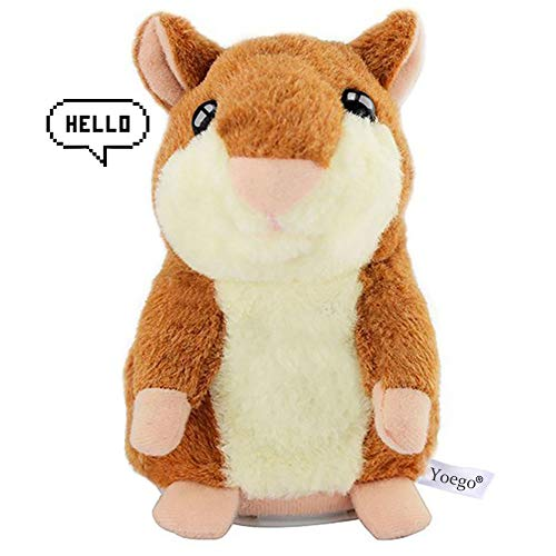 Yoego Cute Mimicry Pet Talking Hamster Repeats What You Say Plush Animal Toy Electronic Hamster Mouse for Boy and Girl...