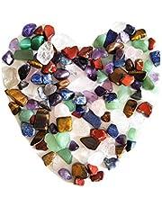 Mieszany naturalny kryształ 7 kamieni czakralnych, jedna torba, około 100 sztuk, waga około 160 gramów łącznie, mały rozmiar