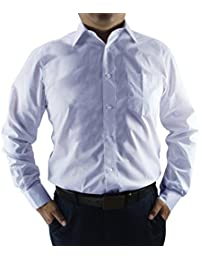 Men's business casual solid long sleeve dress shirts