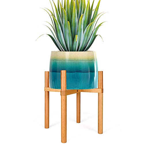 Plant Stand Flower Pot Planter Holder Wood Flower Pot Holder Potted Rack Adjustable Bamboo Plant Stands Wood Plant Stand Mid Century Patented Design Mid Century Flower Pot Holder Indoor Outdoor Plant