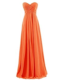 ThaliaDress Women's Empire Long Chiffon Bridesmaid Dress Prom Gown