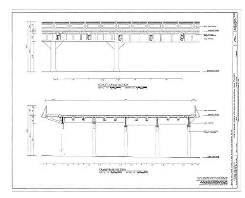 (Structural Drawing HAER NE-10-D (sheet 1 of 1) - South Omaha Union Stock Yards, Buckingham Road Viaduct, Twenty-ninth Street spanning Stockyard Cattle Pens, Omaha, Douglas County, NE 55in x 44in )