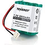 Tenergy 7.2V 2000mAh Replacement Battery for iRobot Braava 320/321 & Mint 4200/4205