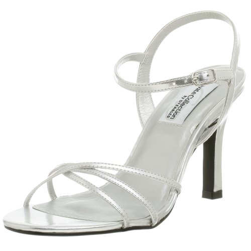 Private Collection by Dyeables Women's Riviera Sandal,Silver Metallic,5.5 M