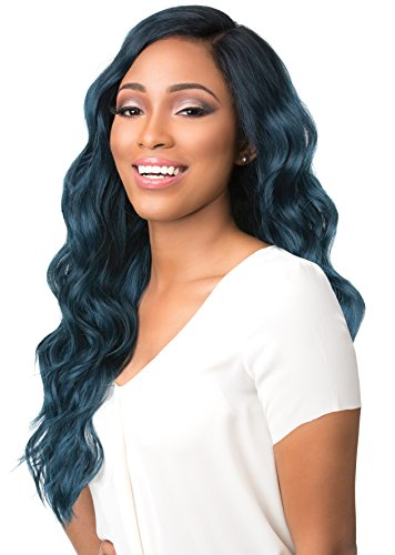 Free Lace Front Wigs (Sensationnel 100% Premium Fiber Empress Free Part Easy 3-Way Parting Lace Front Edge Wig - KAILYN (T1B/DARKTEAL))