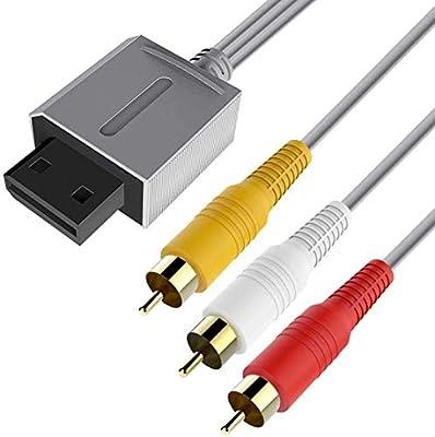Cable AV para Wii, 6amLifestyle, 1,8 m, Cable de Audio y vídeo Compuesto AV de Repuesto, Cable de TV RCA, Cable para Nintendo Wii y Wii U: Amazon.es: Electrónica
