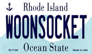 Rhode License Plate State Island (Woonsocket Rhode Island State License Plate Novelty Magnet M-11186 MINI Licence Plate Magnet)