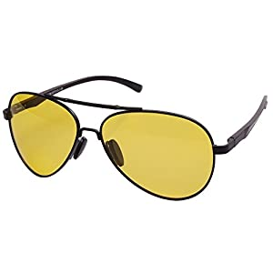 Aoron Night Driving Glasses Polarized Aviator Glasses for Driving At Night, Cloudy, Rainy, Snow
