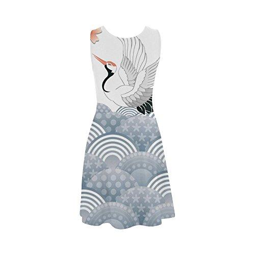 D Crane Summer Design1 Women Women Sleeveless Dress Dress Story Sundress White grgqnRaT