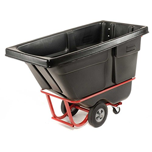 Rubbermaid 1305 Standard Duty 1/2 Cu. Yd. Tilt Truck, 60''L x 28''W x 38-5/8''H by Rubbermaid
