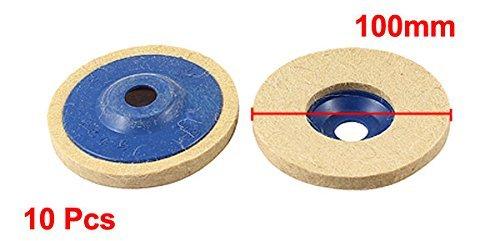 10pcs 100 mm Diámetro externo de fieltro de Lana de pulido abrasivo de la rueda Disco de lijado