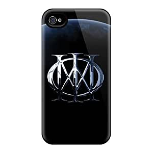 Shock Absorbent Hard Phone Cover For Iphone 4/4s With Unique Design Nice Dream Theater Band Pictures JonBradica