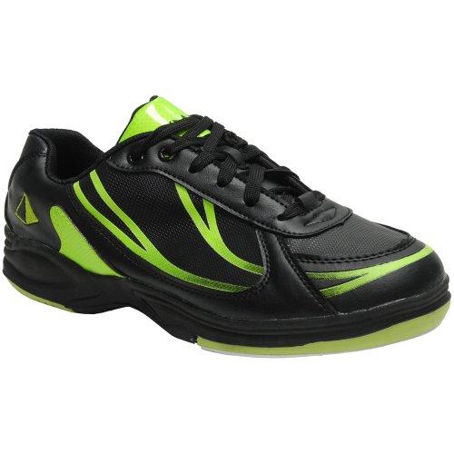 Sport-Bowlingspiel-Schuhe der Pyramiden-Männer Schwarz / Lindgrün