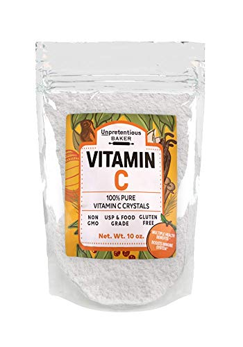 Vitamin C Powder, 8 oz. by Unpretentious Baker, Highest Quality, Pure Ascorbic Acid, 100% Natural Vitamin C, Non-GMO, Resealable Bag