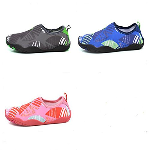 Ocamo Quick Drying Water Shoes Beach Shoes Flat Soft Breathable Non-slip Wading Shoes for Swim Waiking Surf Grey POgLUq
