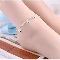 Nattypat Fashion Ankle Bracelet Women 925 Sterling Silver Anklet Foot Jewelry Chain Beach