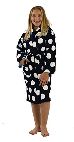 byLora Hooded Girls Towel For Beach Pool Shower, Black, (Polka Dot Hooded Towel)