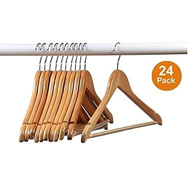 Home-it Wood Suit Hangers (Set of 24)