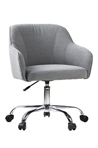 VIVA OFFICE Fabric Swivel Task Chair with Arms, Gray