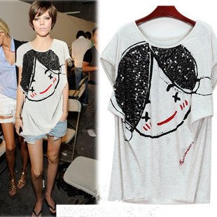 top-rated cheap where can i buy exclusive range Woman and Ladies Oversized Baggy Style Cute Girl Face ...