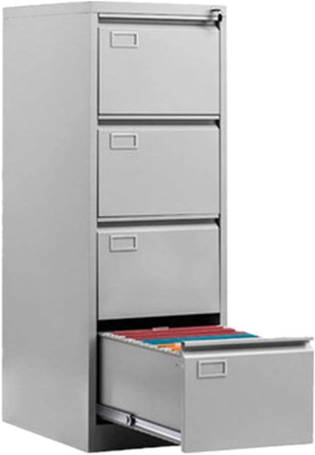 ファイルキャビネッ 組み立てるにはロックの必要性との深い垂直ファイルキャビネット4引き出しレターサイズのスチール オフィスのデスクトップに適しています (Color : Gray, Size : 45.7x132x62cm)