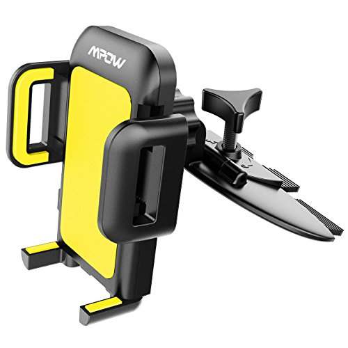 Mpow Car Phone Mount,CD Slot Car Phone Holder Universal Car Cradle Mount with Three-Side Grips and One-Touch Design for iPhone X/8/8Plus/7/7Plus/6s/6P/5S, Galaxy S6/S7/S8, Google, LG, Huawei