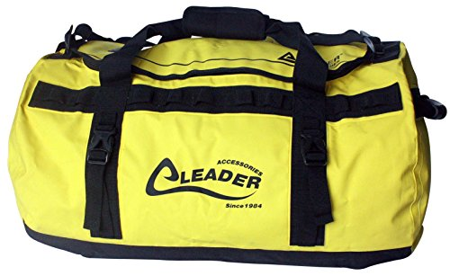 Leader Accessories Deluxe Waterproof PVC Tarpaulin Duffel Bag Backpack Dry Bag(Yellow, 70L)