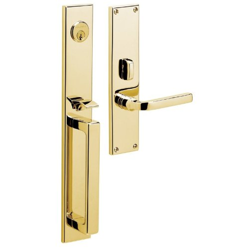 Baldwin 6976.LFD Left Handed Dummy Set Handleset, Lifetime Polished Brass