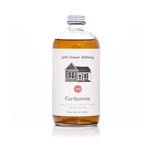 (Pink House Alchemy Cardamom Syrup - 16 oz Simple Syrup Cocktail Drink Mix - Use to Flavor Coffee - Hawaiian Shaved Ice - Dessert Topping - Using Only Fresh Seeds - Free Book See Package (C 16))
