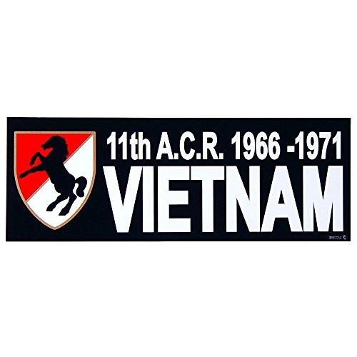 1970's Sticker - 11th A.C.R. 1966-1971 Vietnam Bumper Sticker 3-1/4
