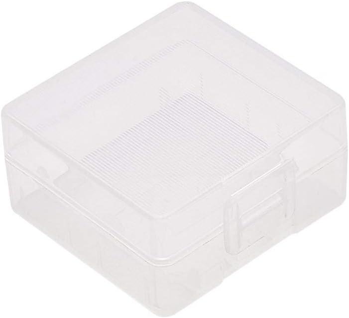 Fielect 3Pcs Multipurpose Battery Storage Box Organizer Battery Storage Holder Case Transparent for 18650 Battery