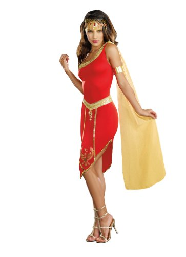 Goddess Costume Nile (Dreamgirl Queen Of De Nile, Red,)