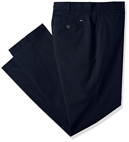 Tommy Hilfiger Men's Big and Tall Classic Fit Stretch Chino Pants, Navy Blazer, 42X30 ()