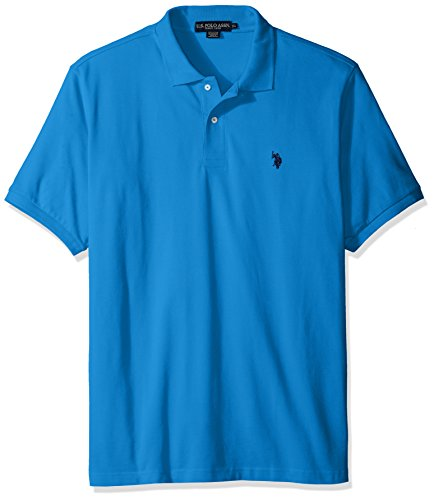 U.S. Polo Assn. mens Classic Polo Shirt (Color Group 1 of 2), Dolphin Blue, Small