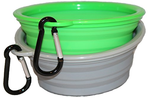 Northern Outback Travel Pet Bowl 2 Pack 2 Cup Silicone Collapsible Dog Bowl Cat Bowl (Trendy Bowls Dog)