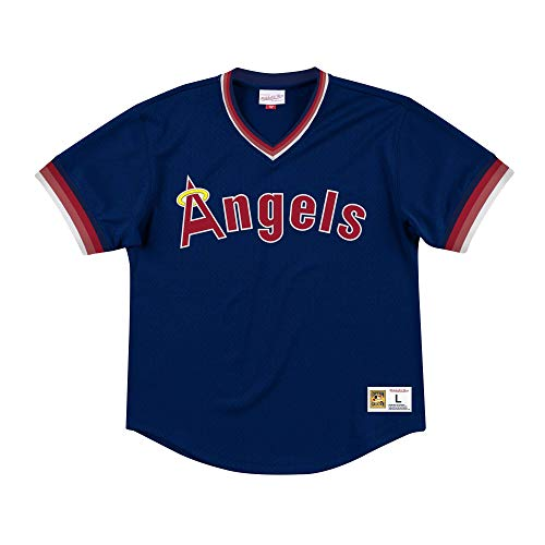 Mitchell & Ness Los Angeles Angels Men's Mesh V-Neck Jersey (XX-Large)