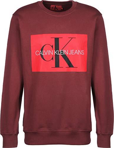 Sudadera Burdeos Monogram Box Klein Logo Calvin Jeans qawBXa7