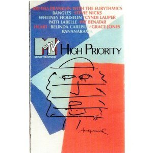 MTV High Priority {Audio Cassette} 1987 Aretha Franklin Stevie Nicks Whitney Houston Heart Pat Benatar - Mtv Whitney