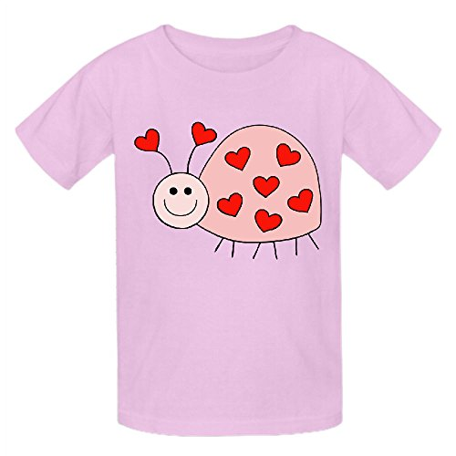 Existlong Love Bugs Funny T Shirts For Kids Round Neck