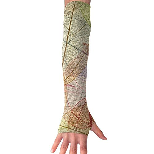 HBSUN FL Unisex Abstract Colorful Leaves Anti-UV Cuff Sunscreen Glove Outdoor Sport Riding Bicycles Half Refers Arm Sleeves by HBSUN FL