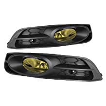 Jdragon 2012-2013 Honda Civic 2 Door Coupe Fog Lights Lamps Yellow with Switch/Relay/Wiring