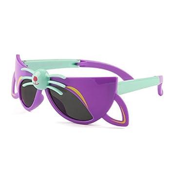 Gris Jack Fox forma plegable polarizadas gafas de sol para niños de 3 – 9 años