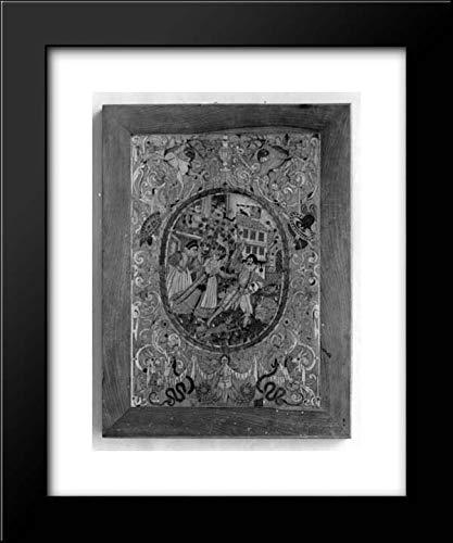 German Culture - 20x24 Framed Museum Art Print- Intarsia Panel