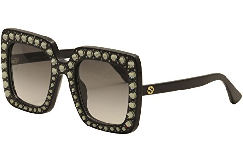Gucci GG 0148 S- 001 BLACK / GREY Sunglasses