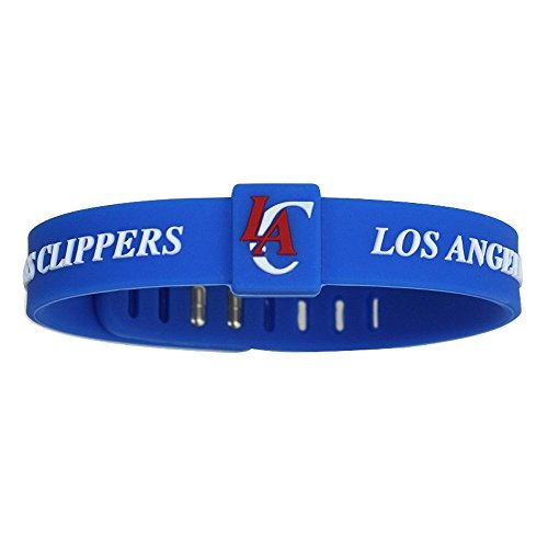 SportsBraceletsPro Adjustable Team Bracelets Kid to Adult Size (Clippers) (Wristband Clippers)